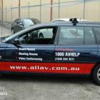 Commodore wrap and text - effective business branding Commodore wrap and signage by Absolute Sign Solutions Australia