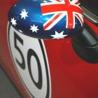 Mini mirrors with custom made decals as well as bonnet stripes and roof decals Mini mirrors with custom made stickers by Absolute Sign Solutions Australia