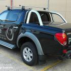 Ute with metallic decals to Mitsubishi Triton Ute with metallic decals by Absolute Sign Solutions Australia