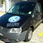Van with digital print and text to VW Caddy Van with digital print and text designed and installed by Absolute Sign Solutions Australia