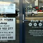 Vinyl lettering metallic finish for signs in Sydney Vinyl lettering metallic finish to shopfront window Northern Beaches Australia