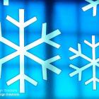 Translucent printed images look great on glass Translucent printed snow flake images by Absolute Sign Solutions Australia