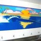 Airbrush Wave landscape mural - Sydney Airbrush Wave landscape mural = Absolute Sign Solutions Australia