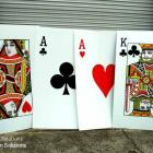 2 mtr Playing card signs, exhibition signage,event signage,event signs, display signs 2 mtr Playing Card Corflute Signs Australia