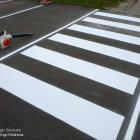 We can do all your compliant pedestrian access linemarking and carpark spaces as well as provide individual and generic signs for your premises Pedestrian crossing line marking - stencils and painting by absolute sign solutions Australia