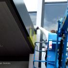 Preparing awning for sign installation Awning sign preparation by absolute sign solutions Australia