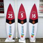 Absolute Sign Solutions can produce all sorts of promotional signage and backdrop / murals for your business or sporting club, school etc Promotional decals with manchester united players names and jersey number by absolute sign solutions, sydney Australia