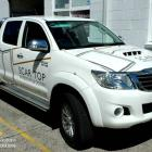 Absolute sign Solutions signwrite all types of utes, vans and trucks. We design your signage to suit your budget. Hilux work ute signwritten by absolute sign solutions, sydney Australia