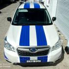 Absolute Sign Solutions make and install all types of stripes for vehicles motor bikes, vintage cars and more Stripes made and installed to Subaru forester by Absolute Sign Solutions Australia