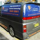 Absolute Sign Solutions print and install perforated prints to all types of vehicles in Sydney Perforated window prints to all windows on van by Absolute Sign Solutions Australia