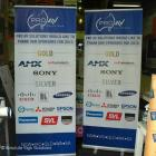 We supply roll up display banners for Corporate, small business, schools and sporting clubs. Roll up displays are ideal for events and branding and are easy to transport, erect and store away when finished Roll up display banners on a stand by Absolute Sign Solutions Sydney Australia