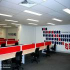We can signwrite any type or logo, lettering, pictures, murals to any wall surface to brand your office, warehouse, sports club, rooms in your house!