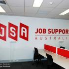 We can signwrite any type of design, logo, text to any surface. We service the Sydney region Corporate logo signwritten to office wall by Absolute Sign Solutions Australia