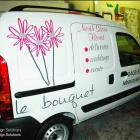 We can design and install effective vehicle signage solutions Florist van signage by Absolute Sign Solutions Australia