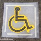 We supply disabled stencils and other compliant stencils for carparks and driveways in Sydney Disabled stencils for carparks by Absolute Sign Solutions Australia