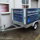 We can supply signs and install to your trailer, or supply the trailer fully finished with signage custom made to your requirements Signs for trailers in Sydney by Absolute Sign Solutions Australia