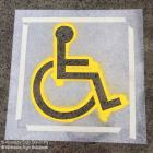 We supply quality stencils for carparks, road ways, and strata compliance Disabled Stencils supplied for use in carparks for business and strata Australia