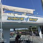 Boat signage and signwriting in Sydney Boat signage to yacht in Sydney by Absolute Sign Solutions Australia