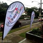 quality teardrop flags in Sydney Tear drop flags to advertise your business Australia