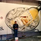 Large Murals painted in Sydney Hardys Wines Mural handpainted - Sydney Australia