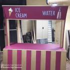 Handpainted props Sydney Ice cream Stand designed and signwritten for events in Sydney Australia