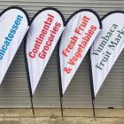 Teardrop flags made locally Teardrop flags made in Sydney - Absolute Sign Solutions Australia