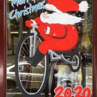 Santa Murals Handpainted Christmas Windows Australia