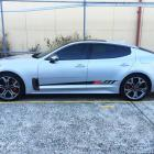 Vehicle Stripes Sydney Kia Stinger side stripes custom made Australia